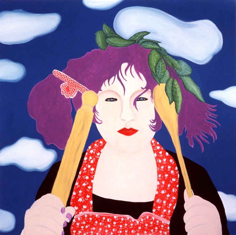 Basil Stephanie acrylic on canvas 150cm x 150cm 2001