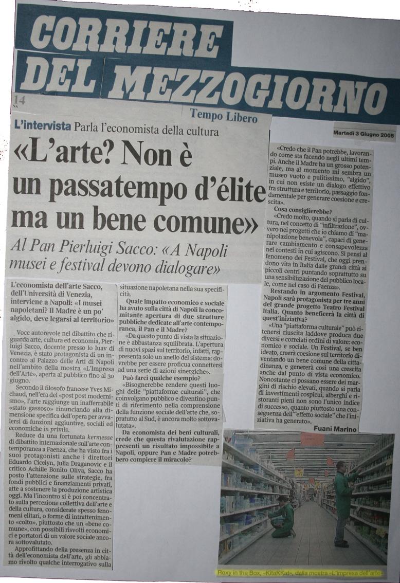 Corriere del mezzogiorno, 3 giugno 2008