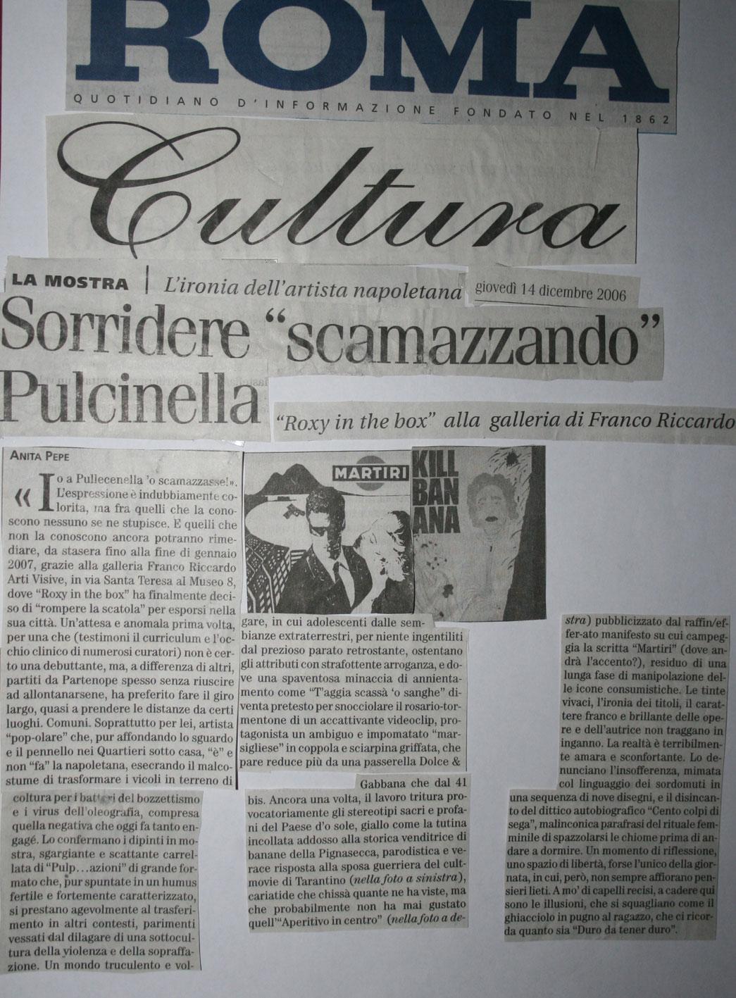 roma cultura, 14 dicembre 2006