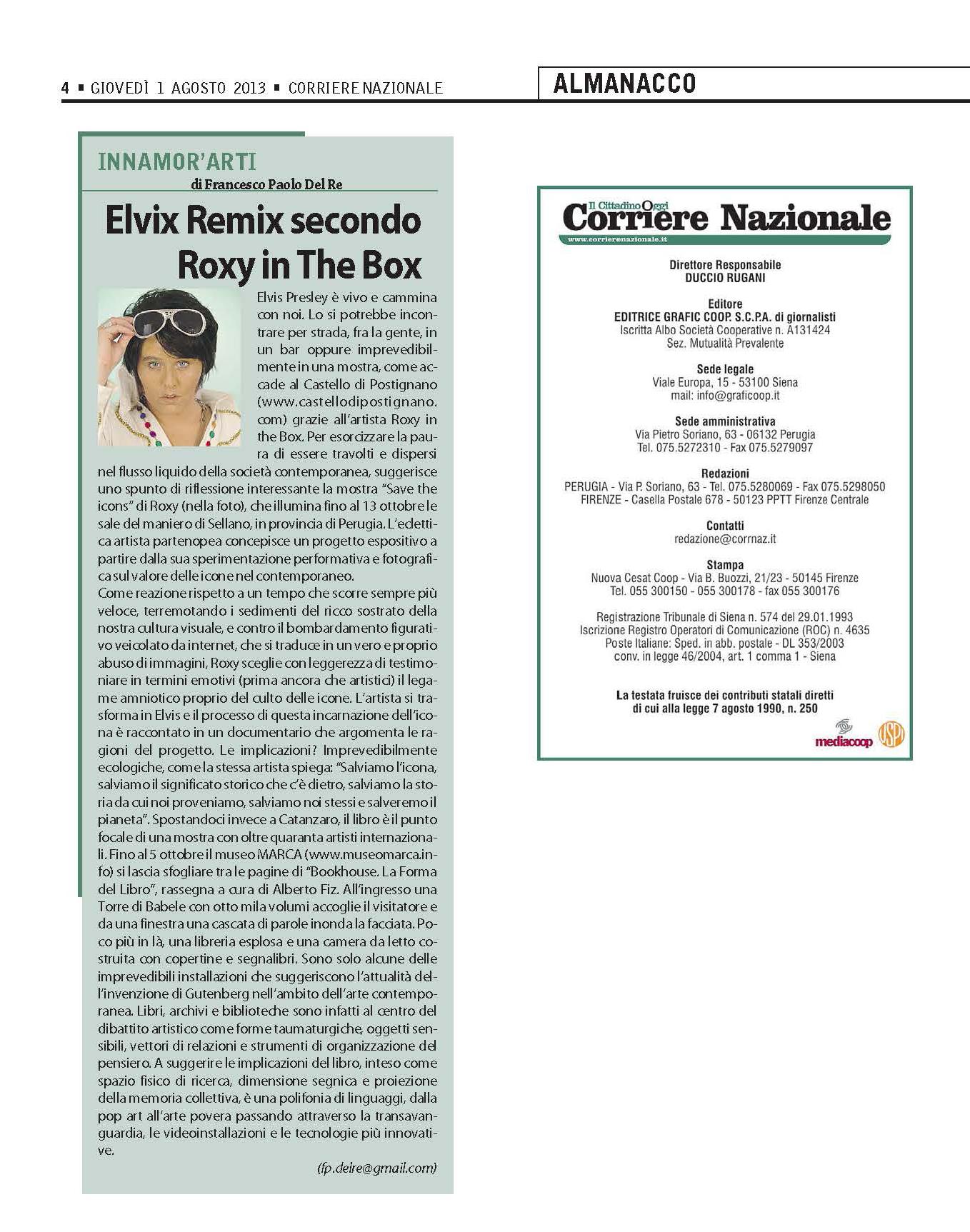 corriere nazionale elvis