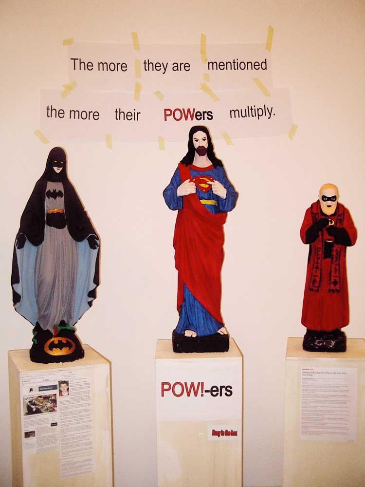 POW-ers!  acrylic on plaster
