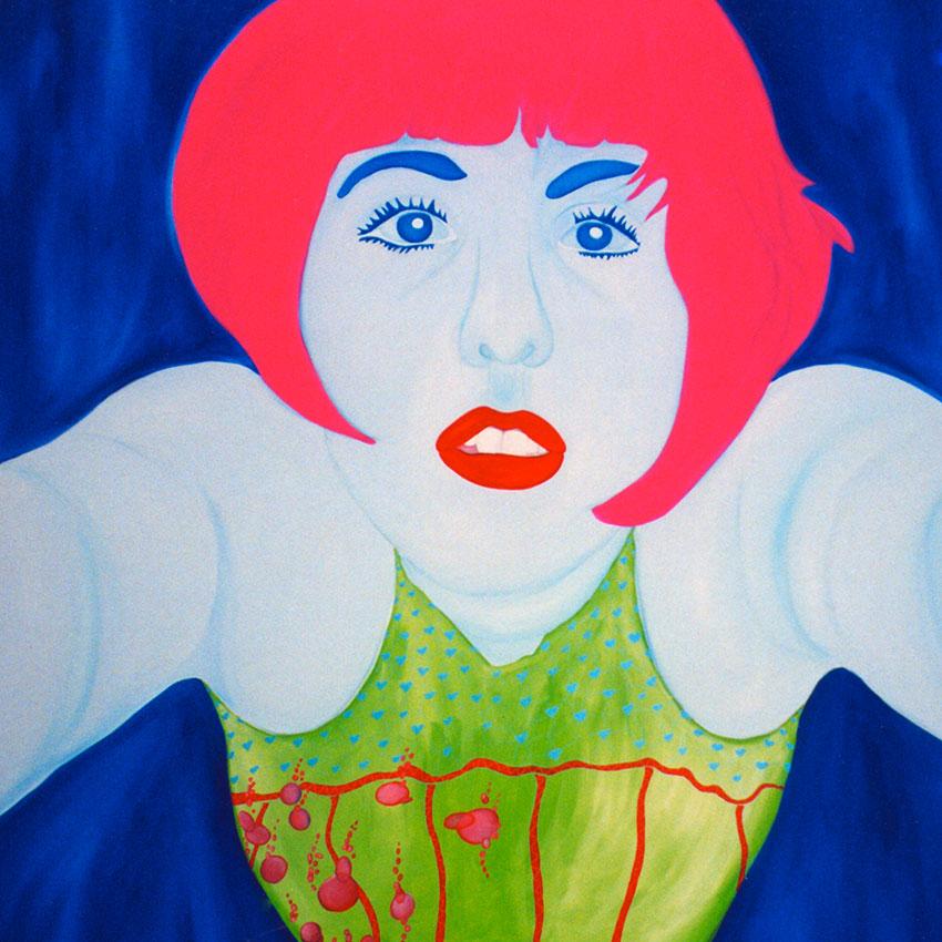 acrylic on canvas 180cm x 180cm 2002