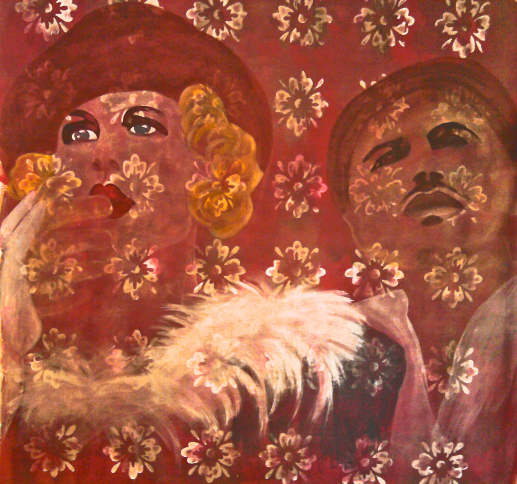 acrylic on paper 150cm x 150cm 2010
