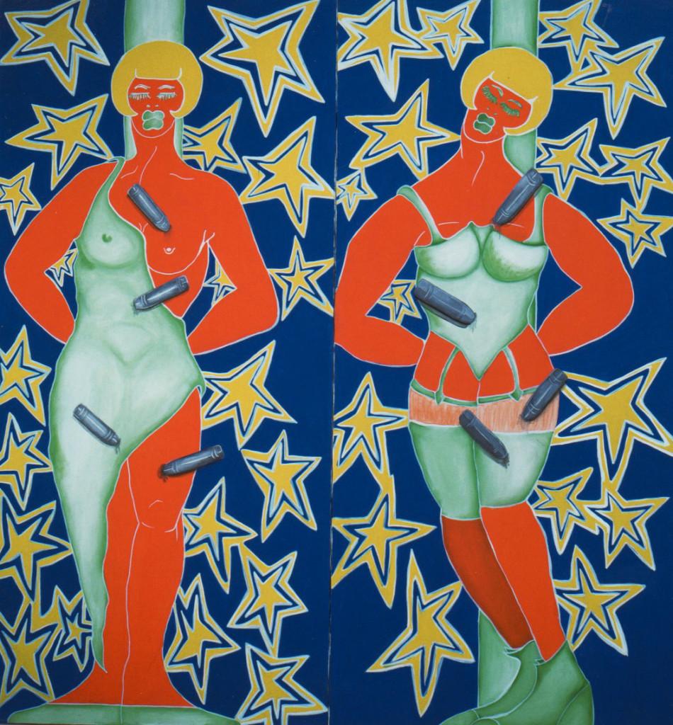 acrylic on canvas 2pcs. - 170cm x 80cm