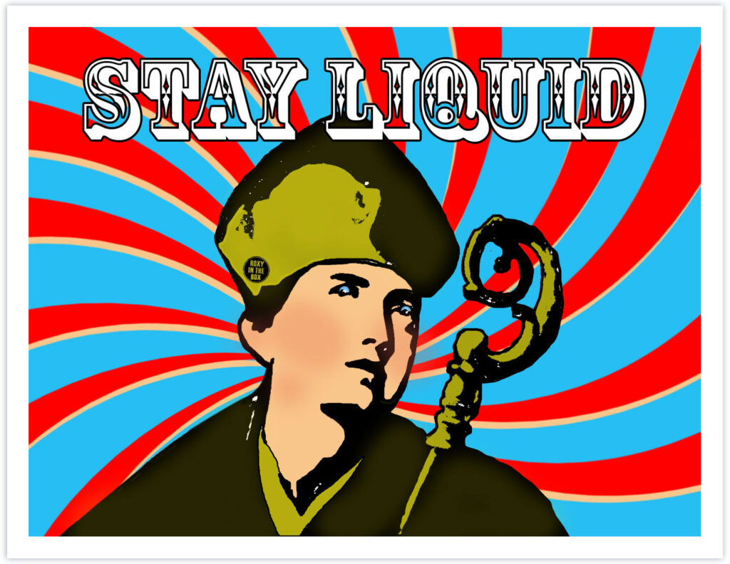 Stay Liquid (San Gennaro) 61cm x 48cm 2018