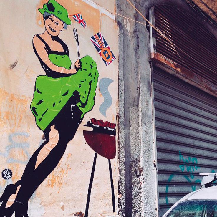 Street Art - Queen Elizabeth - Roxy in the Box