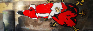 I dolori di Santa Claus - Street Art - Roxy in the Box
