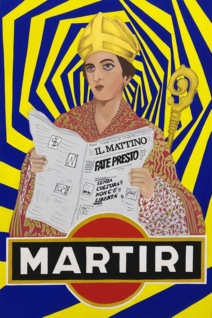 """""""A Martyr to drink"""", Saint Gennaro 2020, Unique Piece."""