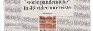 """LA REPUBBLICA - ROXY IN THE BOX """"STORIE PANDEMICHE"""" IN 49 VIDEO INTERVISTE"""